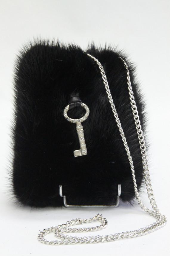Porte téléphone vison black.