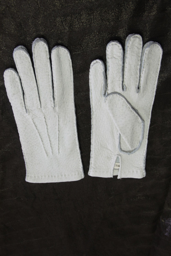 Gant femme cuir blanc. 21166