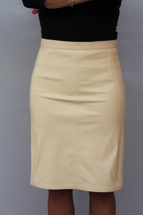 jupe droite cuir femme : e 56.1