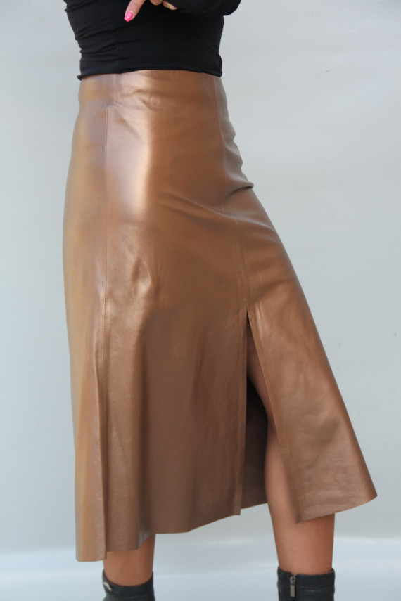 jupe longue cuir femme : carine 1