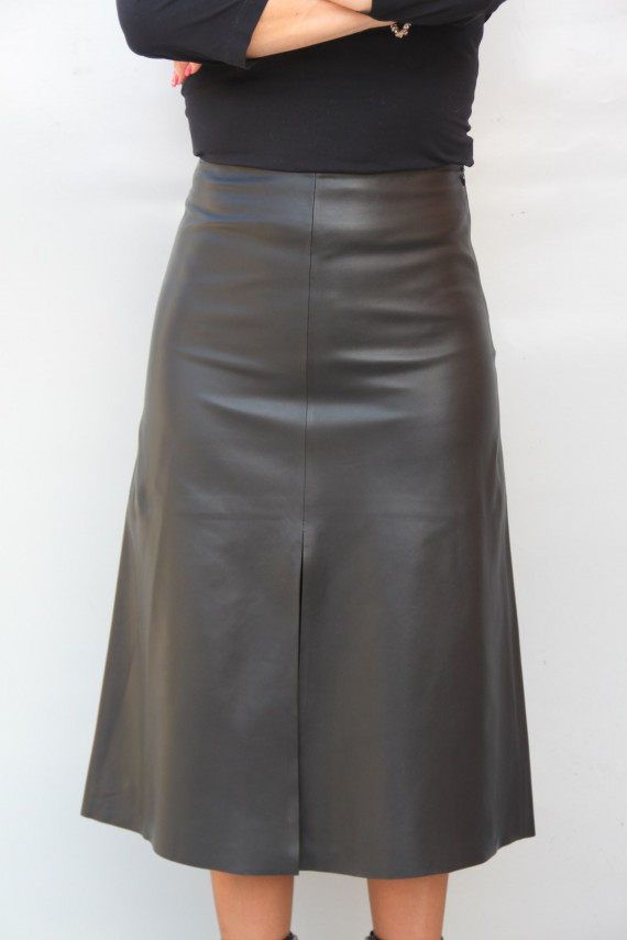 jupe longue cuir femme : carine 2