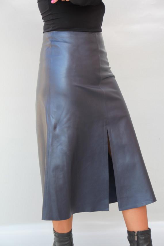 jupe longue cuir femme : carine 3