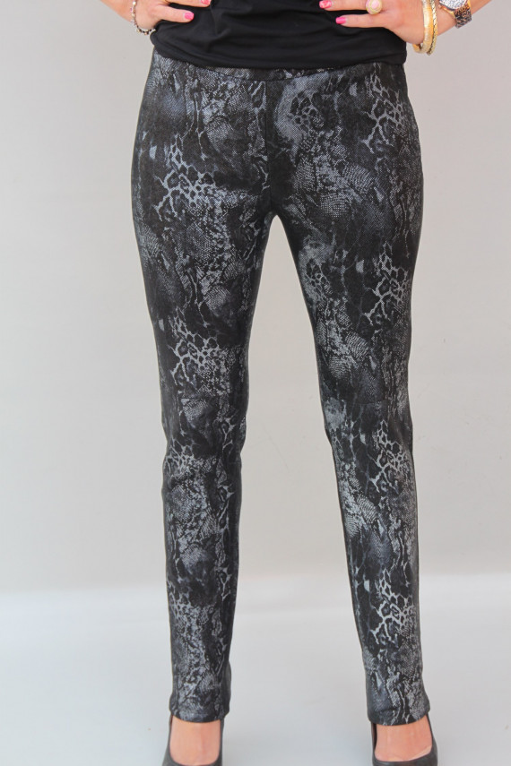 Pantalon cuir stretch imprimé femme : LEGGINGS