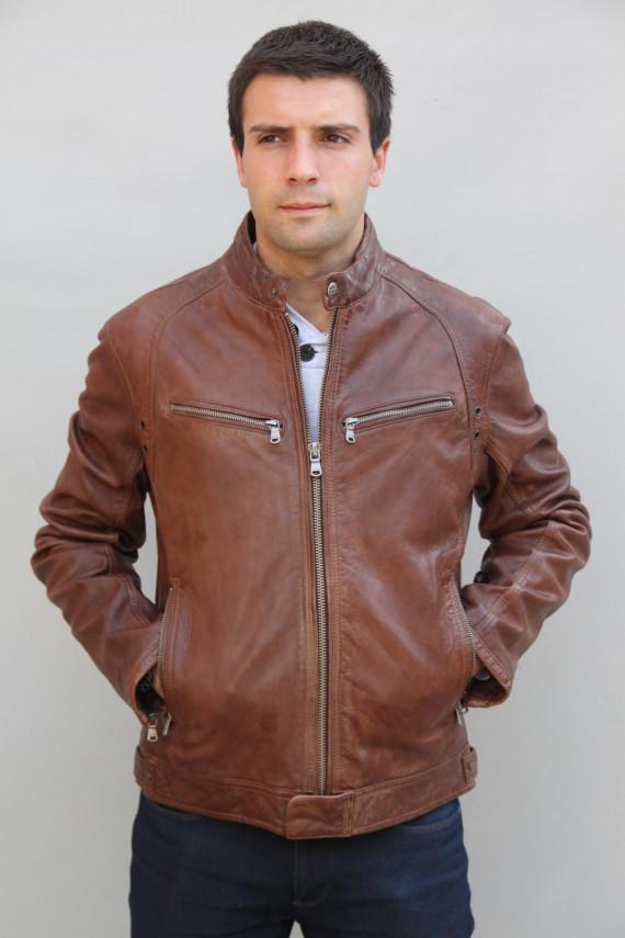 Blouson cuir homme : dustin