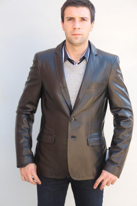 Veste blazer cuir homme : ethan 5