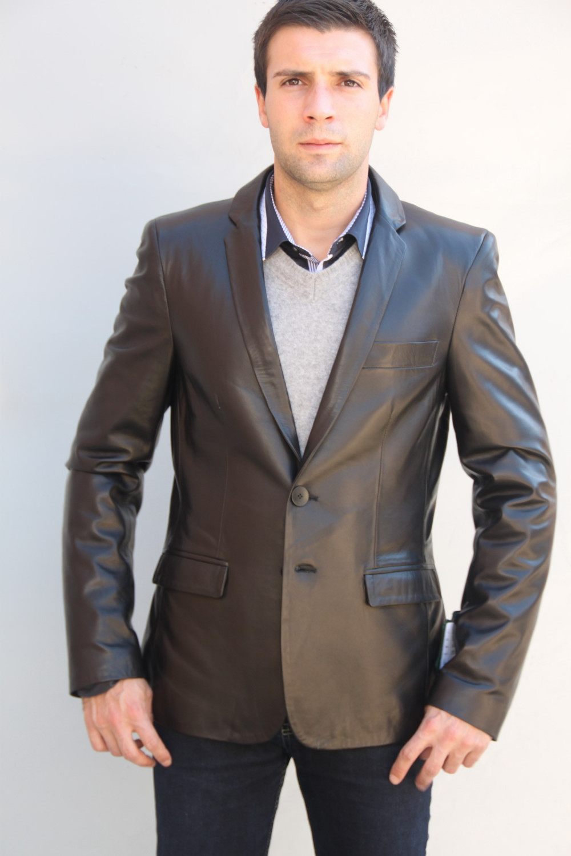 veste blazer cuir homme ethan p. Black Bedroom Furniture Sets. Home Design Ideas