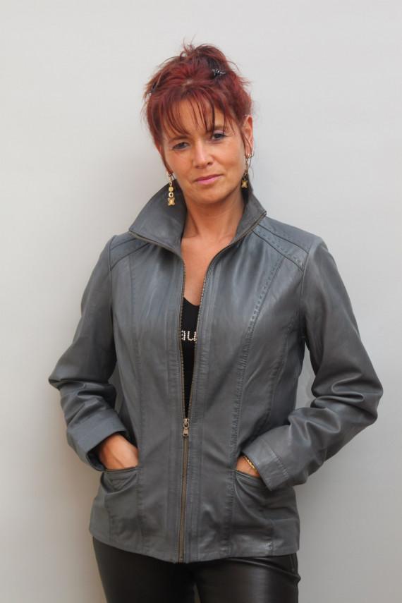 veste cuir femme : samara