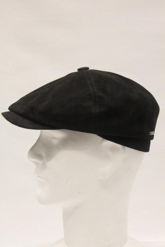 Casquette stetson homme cuir noir: 3429
