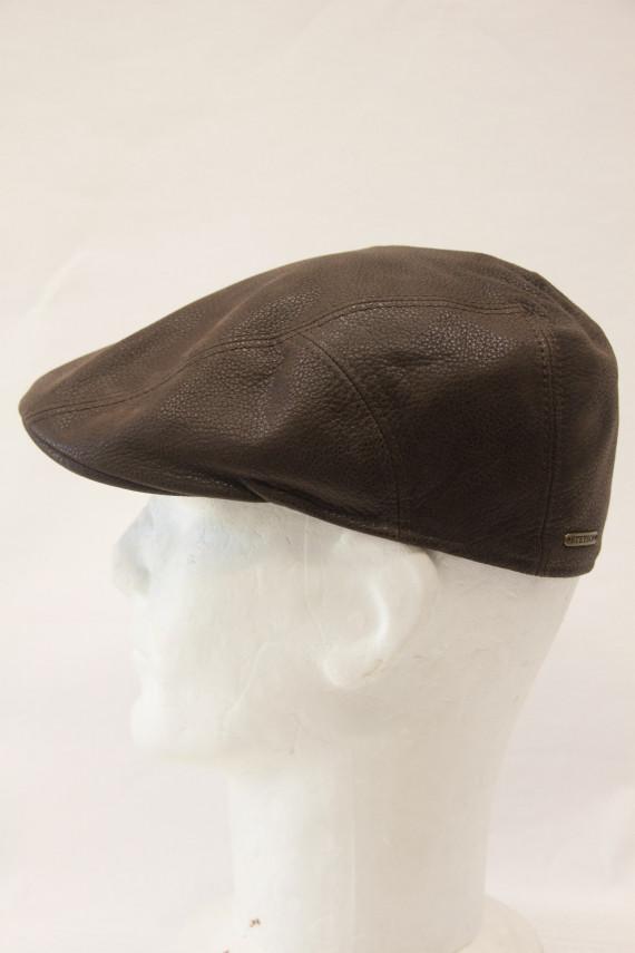 Casquette stetson homme cuir marron : 3730