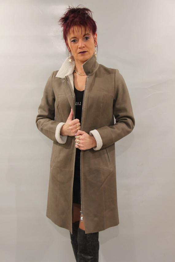Veste longue 7/8 peau lainée femme : P 313