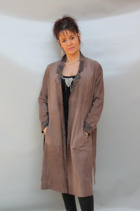 Veste longue cuir femme: bhalla