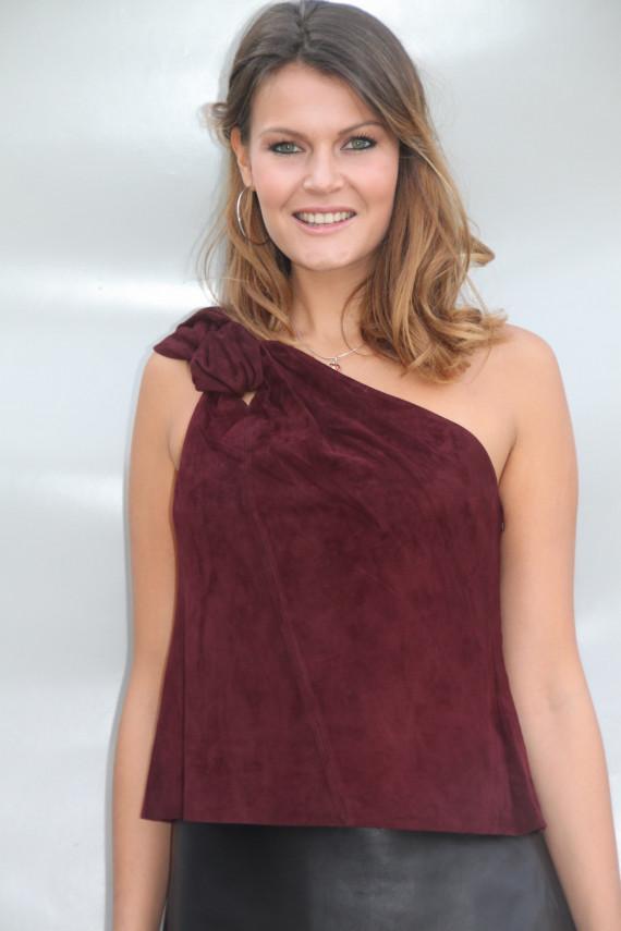 Top femme cuir velours 3 coloris : St Trop
