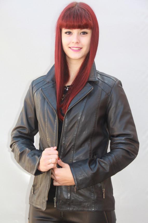 Veste cuir femme 2 coloris : sabrina