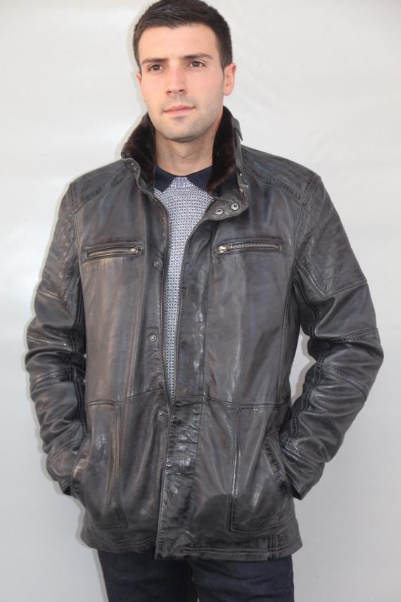 veste cuir homme : BELFAST
