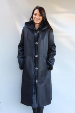 manteau peau lainée femme : ASTRID