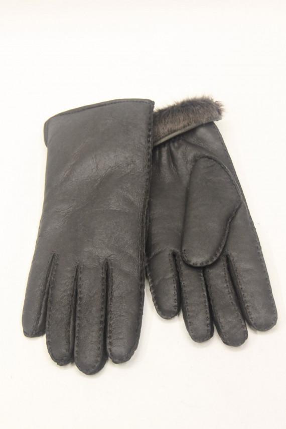 gant peau lainée femme : 2754