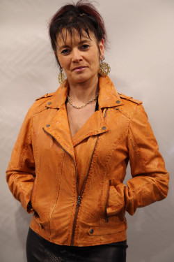 Blouson cuir femme : GEMMA