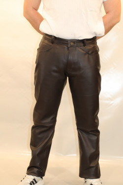 pantalon cuir homme : normal .v