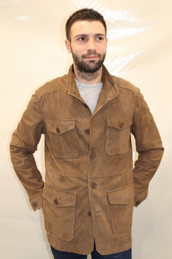 veste cuir velours homme : BRICE