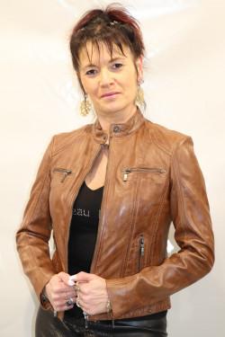 Blouson cuir femme : carlita