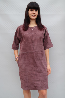 robe cuir velours femme : romyn