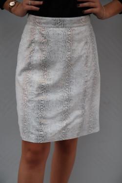 Jupe  Cuir Agneau Femme : skirt.r