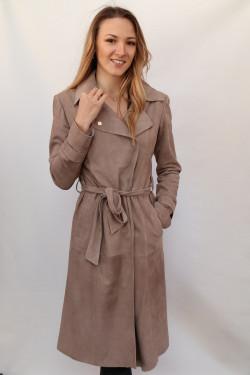 Veste longue cuir velours femme: sea