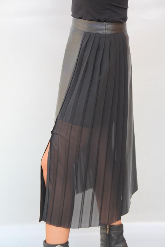 jupe longue cuir femme : adèle
