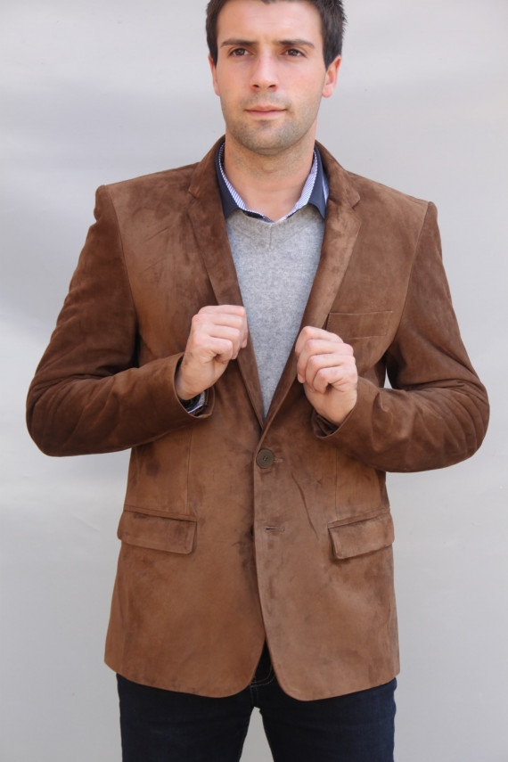 veste blazer cuir homme : ethan.