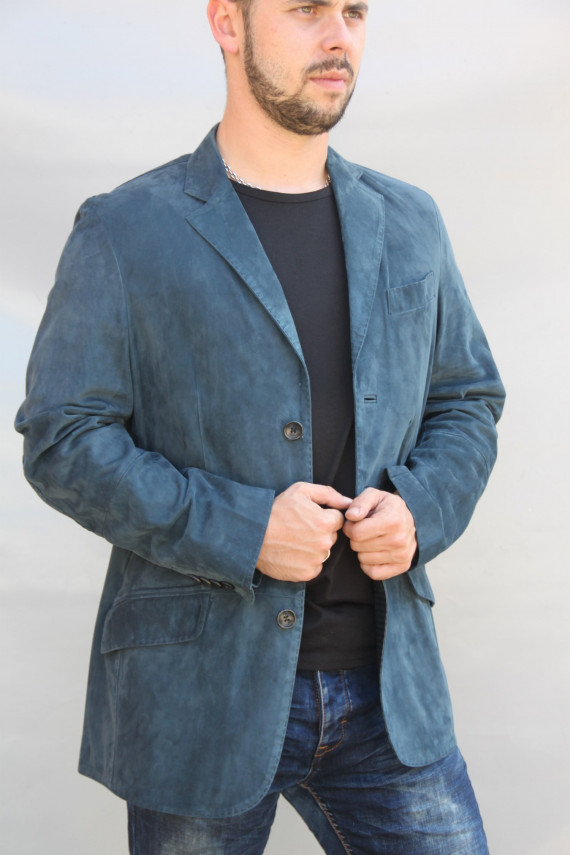 veste blazer cuir homme : 519