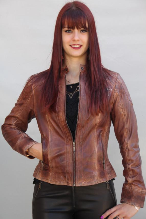 blouson cuir femme 2 coloris : fosia