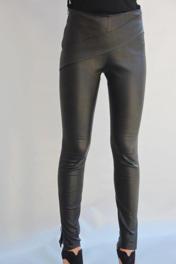 pantalon cuir stretch femme : albi