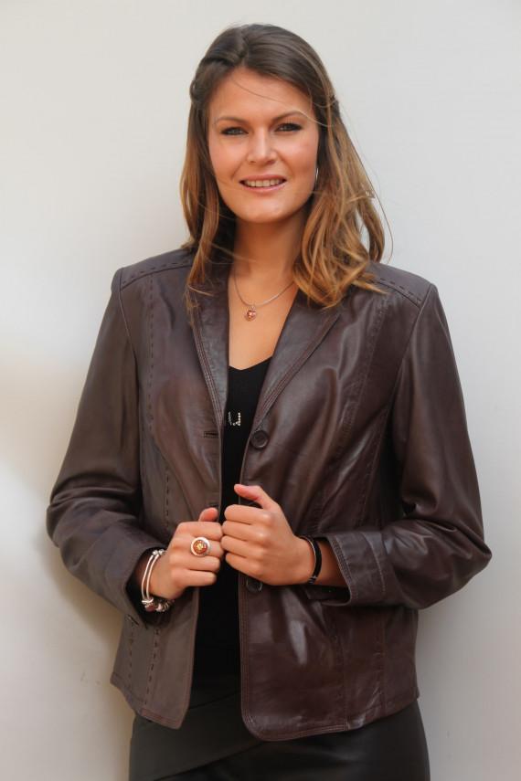 9cfd6d00d6937 blazer cuir femme 2 coloris : jeannie