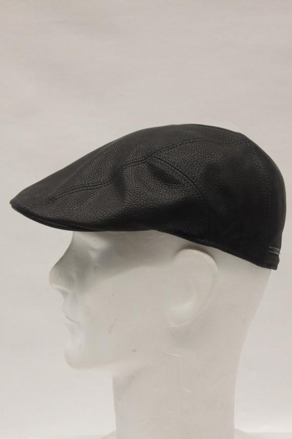 Casquette stetson homme cuir noir : 3417