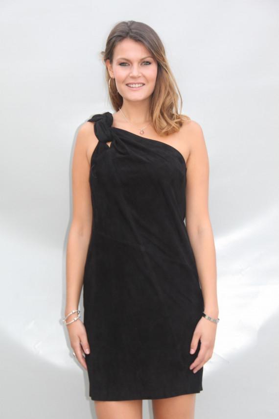 Robe cuir velours femme : biot