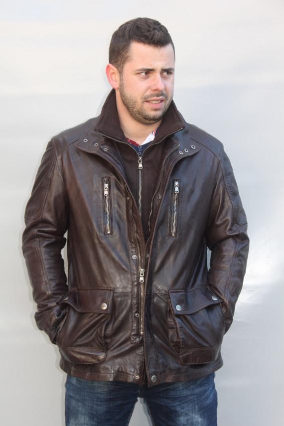 veste cuir homme : russel b