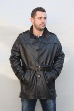 veste 3/4 cuir cerf homme : pietro