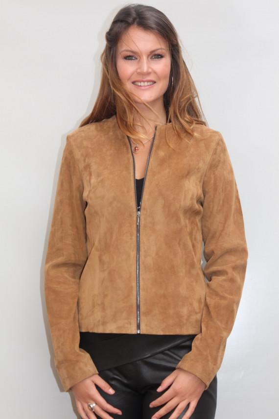 Blouson cuir stretch femme : nerico