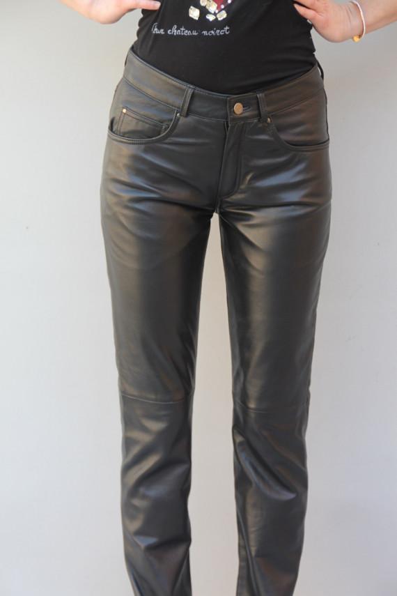 Pantalon  femme cuir slim : 501
