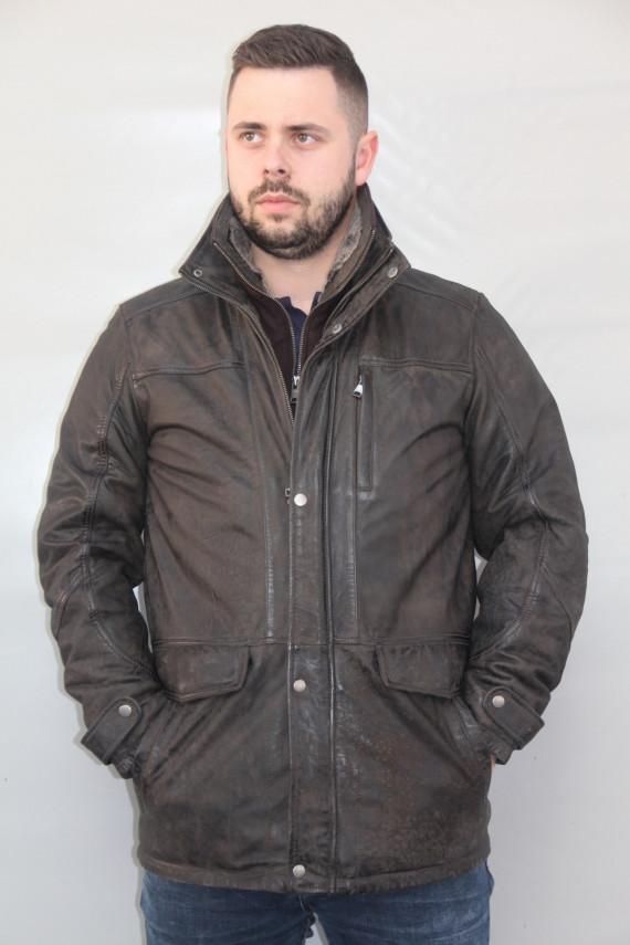 veste parka cuir homme : mission