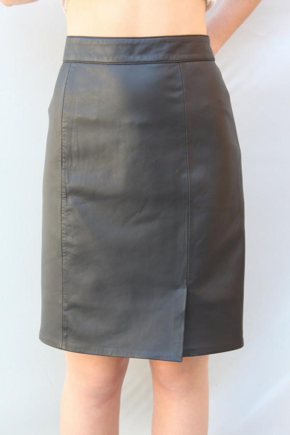 jupe droite cuir femme : anna