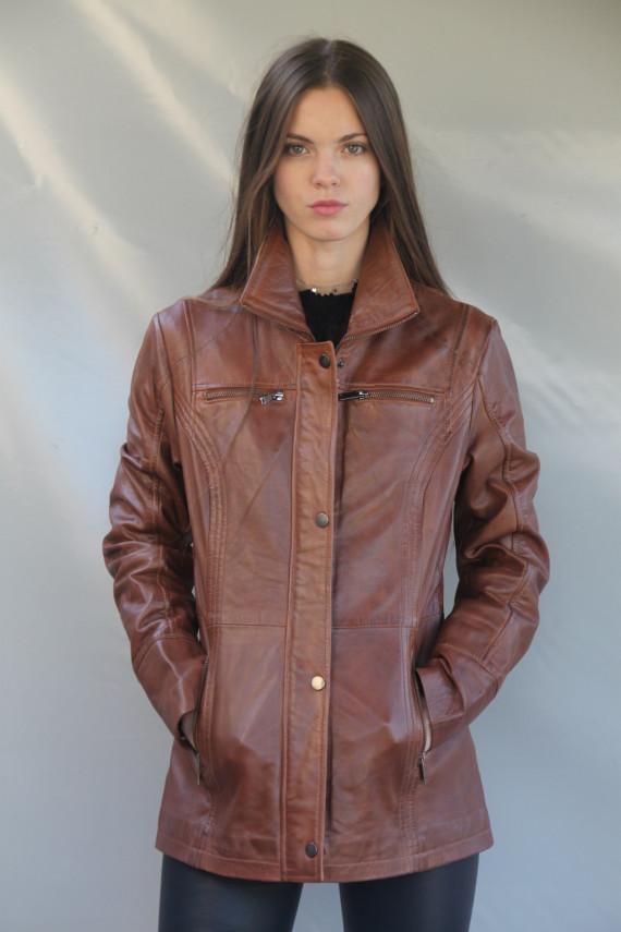 veste cuir  femme : bettie. C