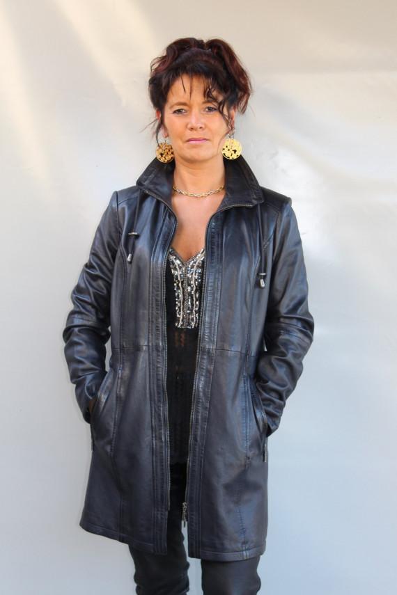 veste parka cuir femme : Franka