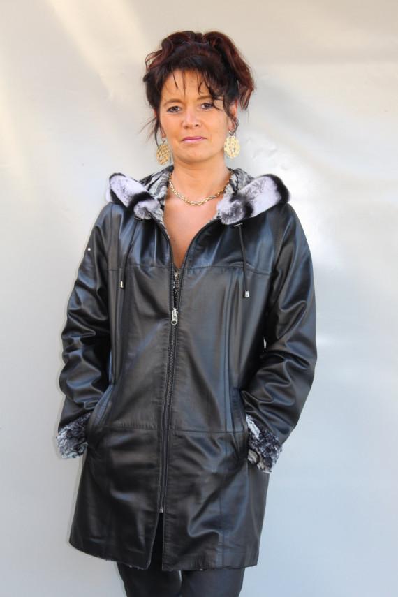 veste réversible cuir  femme : leyton.n