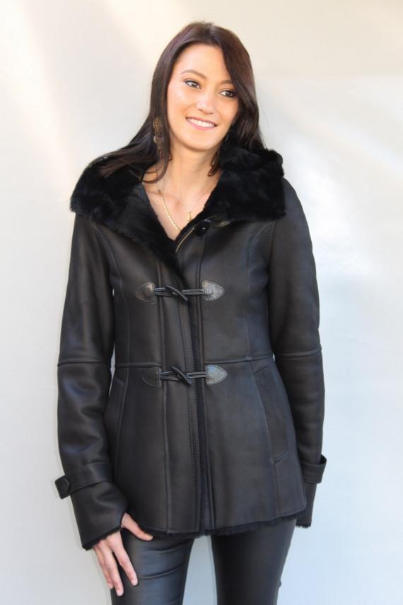 Veste peau lainée femme : estibaliz