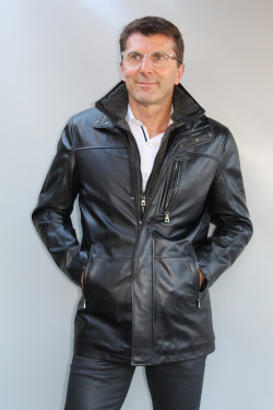 veste cuir homme : maxime