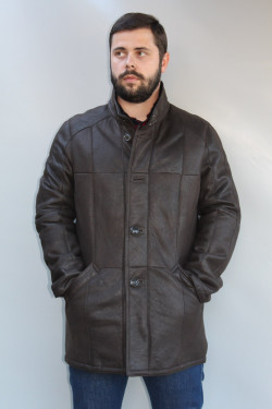 Veste peau lainée homme : LASLO