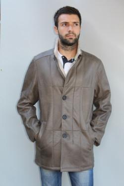 Veste peau lainée homme : achim